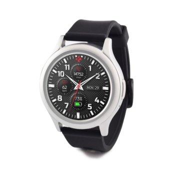 Смарт часовник MyKronoz ZeRound3, водоустойчивост, тъчскрийн, аларма, измерване на разстояние/изгорените калории/пулс, мониторинг на съня, Bluetooth 4.2, Android, сребрист image