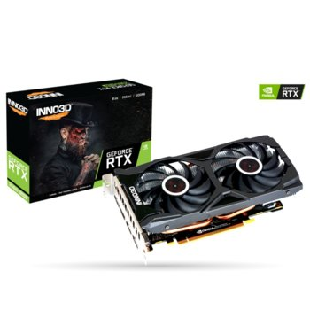 Видео карта Nvidia GeForce RTX 2060 SUPER, 8GB, Inno3D GeForce RTX 2060 SUPER TWIN X2 OC, PCI-E 3.0, GDDR6, 256bit, DisplayPort, HDMI image