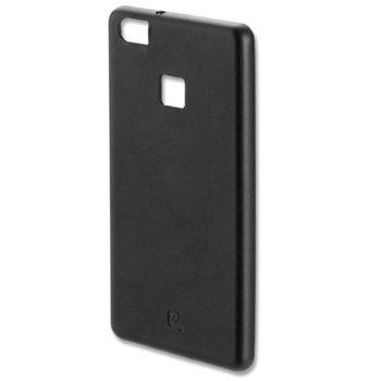Калъф Huawei P9 Lite, страничен протектор с гръб, кожен, 4smarts Venice Leather Case, черен image