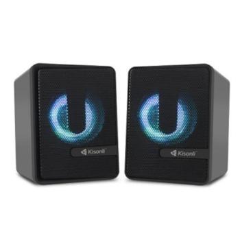 Мини Аудио Система Kisonli L-4040, 2.0, 2x3W, 3.5mm стерео, черен image