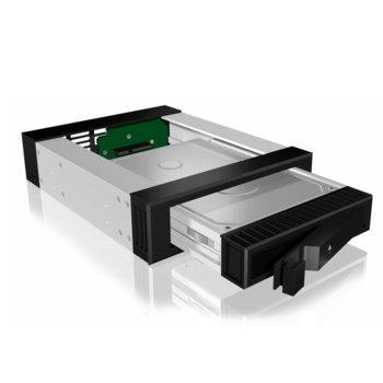 """Кутия 2.5""""/3.5"""" (6.35 cm/8.89 cm) RaidSonic IB-129SSK-B, за HDD, SATA, черна image"""