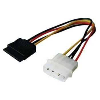 Захранващ кабел SBOX 15P-4P/TC, от Molex(м) към SATA(ж), 0.25m image