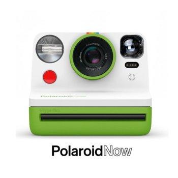 Фотоапарат Polaroid Now (зелен), моментални снимки, светкавица, с батерия, auto-focus, USB image