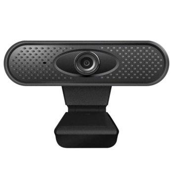 Уеб камера DELTACO TriVision, микрофон, 1080p/30FPS, USB 2.0, USB 2.0, черна image