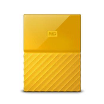"""Твърд диск 1TB Western Digital My Passport, жълт, външен, 2.5"""" (6.35cm), USB 3.0 image"""