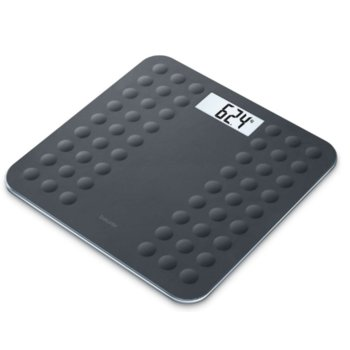 Цифров кантар Beurer GS 300, LCD дисплей, натоврване до 180кг, черен image
