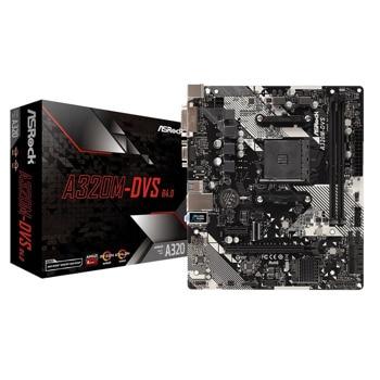 Дънна платка ASRock A320M-DVS R4.0, A320, AM4, DDR4, PCI-E (DVI&VGA), 4x SATA 6.0 Gb/s, USB 3.1 (Gen1), Micro ATX image