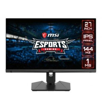 """Монитор MSI Optix MAGG274R (9S6-3CA7BA-020), 27"""" (68.58 cm) IPS панел, 144Hz, Full HD, 1ms, 100000000:1, 300 cd/m2, DisplayPort, HDMI, Type C, 1x Audio ports image"""