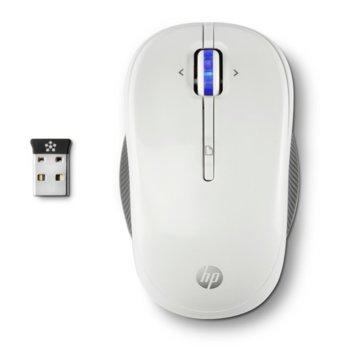 Мишка HP X3300, оптична (1300 dpi), безжична, USB, бяла, програмируем бутон image