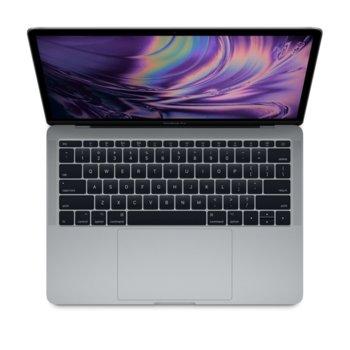 """Лаптоп Apple MacBook Pro 13 (MV972ZE/A)(сив), четириядрен Coffee Lake Intel Core i5-8279U 2.4/4.1GHz, 13.3"""" (33.78) cm IPS Retina дисплей, 8GB DDR4, 512GB SSD, 4x USB-C Thunderbolt, macOS Mojave, 1.37 kg image"""