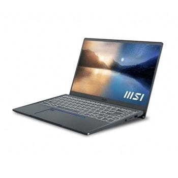 "Лаптоп MSI Prestige 14 Evo A11M (9S7-14C412-279)(сив), четириядрен Tiger Lake Intel Core i7-1185G7 4.80 GHz, 14.0"" (35.56 cm) Full HD IPS Anti-Glare Display, (USB Type-C), 16GB DDR4, 512GB SSD, 2x Type-C, Windows 10 Home image"