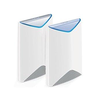 Wi-Fi система(2x бр.) Netgear Orbi AC3000 Tri-band WiFi, 3000Mbps, 2.4GHz(400Mbps)/5GHz(866Mbps + 1,733Mbps), Wireless AC, 7x LAN1000, 1x WAN1000, 6x вътрешни антени image