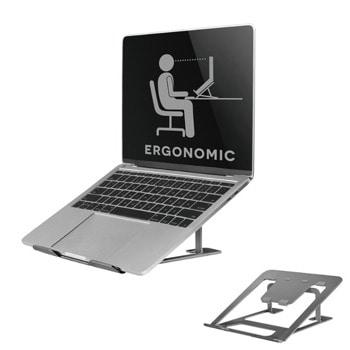 """Стойка за лаптоп NewStar NSLS085GREY, от 10"""" до 17"""", 6 степени на височина, сгъваема, до 5кг., сива image"""