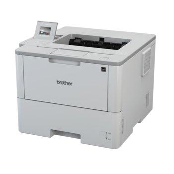 Лазерен принтер Brother HL-L6300DW, монохромен, 1200 x 1200 dpi, до 46стр/мин, Lan1000, Wi-Fi, USB 2.0, A4, двустранен печат, цветен LCD сензорен дисплей image