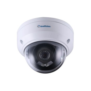 IP камера GeoVision GV-ADR2702, куполна камера, 2MP (1920x1080@25fps), H.265, H.264 и MJPEG, IR осветленост (до 30м), външна IP67, PoE image