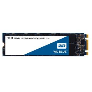 Памет SSD 1TB Western Digital WDS100T2B0B Blue, SATA 6Gb/s, M.2(2280), скорост на четене 560MB/s, скорост на запис 530MB/s image
