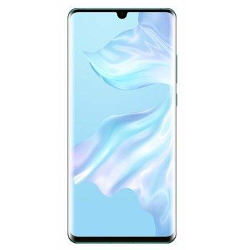 """Смартфон Huawei P30 Pro (Aurora), поддържа 2 sim карти, 6.47"""" (16.43 cm) FHD+ OLED дисплей, осемядрен Kirin 980 2.6GHz, 6GB RAM, 128GB Flash памет (+nano слот), 40.0MPix + 20.0MPix + 8.0MPix & 32.0 MPix камера, Android, 192g image"""
