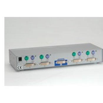 KVM суич, ROLINE 14.99.3254, DVI, 1U-4PC, PS/2 image