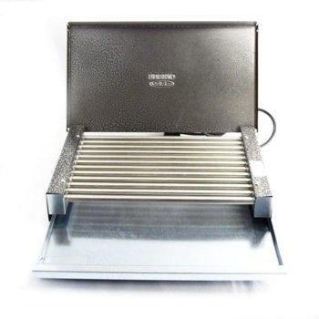 Електрическа скара RUBINO ЕС 1.6К, тръбни ребра от неръждаема стомана, 1600W image