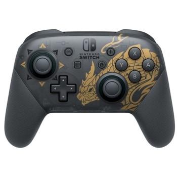 Геймпад Nintendo Switch Pro Controller: Monster Hunter Rise Edition, за Nintendo Switch, черен image