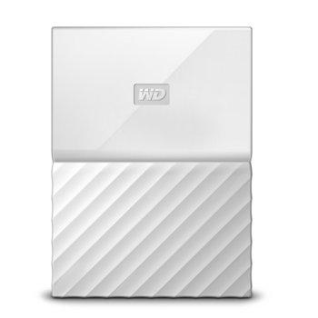 """Твърд диск 1TB Western Digital MyPassport, външен, 2.5""""(6.35cm), USB 3.0, бял image"""
