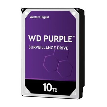 "Твърд диск 10TB WD Purple Surveillance (WD101PURZ-85C62Y0), SATA 6Gb/s, 7200 rpm, 256MB кеш, 3.5""(8.89 cm) image"