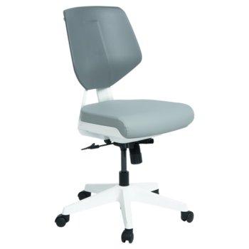 Работен стол Carmen SMART LUX, силиконова кожа, до 100 кг., сив image
