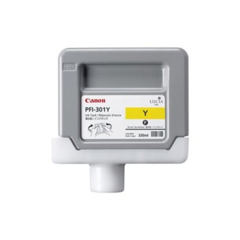 Мастило за Canon iPF8000 and iPF9000 - Yellow - 1489B001 - Ink Tank PFI-301 - 330ml image