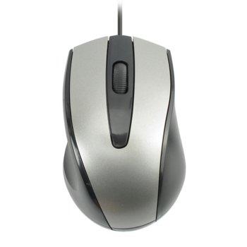 Мишка DeTech, оптична (1200 dpi), USB, сива, 1.2м кабел image