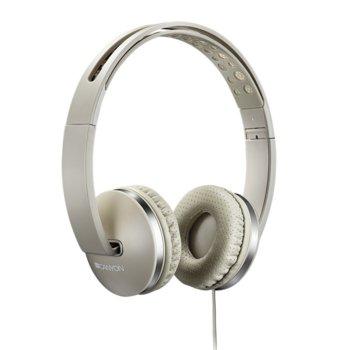 Слушалки Canyon CNS-CHP4BE, микрофон, 40мм говорители, сгъваеми, бежови image