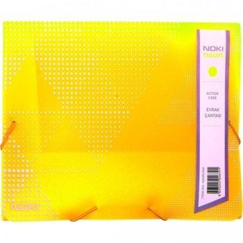 Папка PVC, с ластик, Noki, neon жълт image