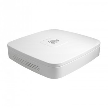 Хибриден видеорекордер Dahua NVR4104-P-4KS2, 4 канала, H.265/H.264, 1x SATA, 2x USB, 1x RJ-45, 4x PoE, 1x RCA, 1x HDMI, 1x VGA image