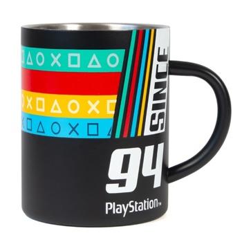 Чаша Since '94 inspired by PlayStation Original Logo, стоманена, черна image