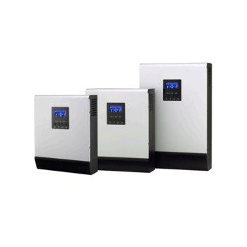 Инвертор Lever HOMIV-3K, хибриден синусоиден, 3000VA/2400W, от 90–280 Vac към 230 Vac ± 5%, LCD дисплей image