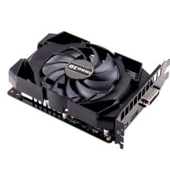 Видео карта Nvidia GeForce GTX 1050 TI, 4GB, Inno3D Compact X1, PCI-E 3.0, GDDR5, 128 bit, 1x Display Port, 1x HDMI, 1x DVI image
