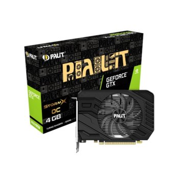 Видео карта Nvidia GeForce GTX 1650 SUPER, 4GB, Palit STORMX OC, PCI-E, GDDR6, 128bit, HDMI, DisplayPort, DVI-D image