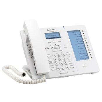 "VoIP телефон Panasonic KX-HDV230, LCD 2.3""(5.84) дисплей, 6 линии, бял image"