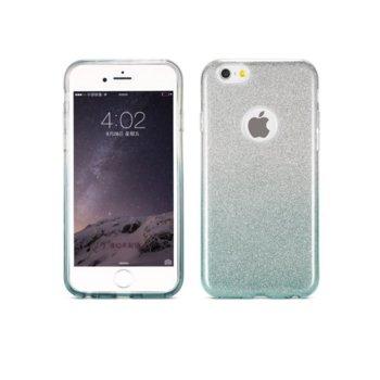 Страничен протектор с гръб Remax, TPU материал, със защита за камерата на телефона, за Apple iPhone 6 Plus и iPhone 6S Plus, сив с брокат image