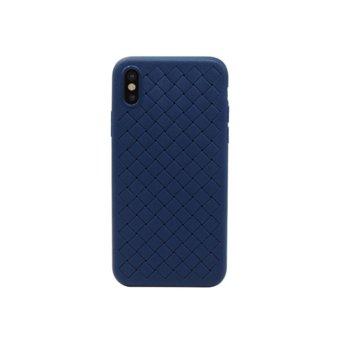 Калъф за iPhone X, протектор, термополиуретанов, Remax Tiragor, син image