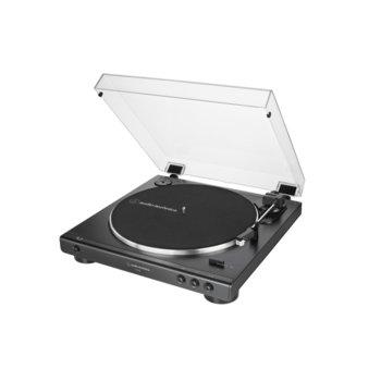 Грамофон Audio-Technica AT-LP60X, автоматично управление, ремъчно задвижване, максимум 45 об/мин, черен image