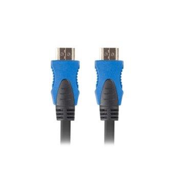 Кабел Lanberg CA-HDMI-20CU-0018-BK, HDMI(м) към HDMI(м), 4К, 1.8m, черен image
