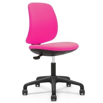 Детски стол RFG Lucky Black, до 120кг, дамаска, пластмасова база, регулиране на височината, газов амортисьор, розов image