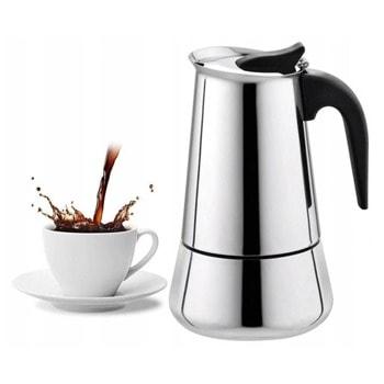 Кафеварка за еспресо Zilner ZL 4754 C, 12 чаши, иноксов корпус, вграден предпазен клапан, метален филтър, бакелитена дръжка, инокс image