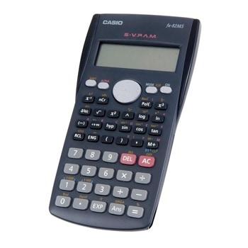 Калкулатор Casio FX-82MS, 12 разряден дисплей, научен, 240 Функции, фракционни изчисления, комбинаторика и пермутация, 9 променливи, списъчен редактор на статични данни, стандартно отклонение, регресионен анализ, черен image