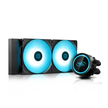 Водно охлаждане за процесор DeepCool GAMMAXX L240 V2, съвместимост със Intel 165W LGA20XX/LGA1366/LGA115X & AMD 250W AM4/AM3+/AM3/AM2+/AM2/FM2+/FM2/FM1 image