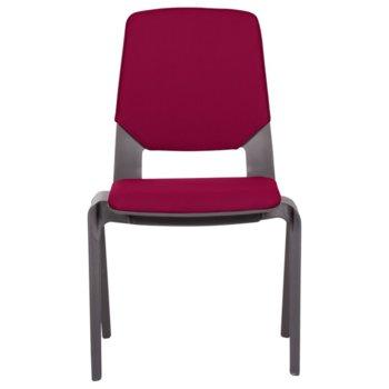 Посетителски стол Carmen Limber, полипропилен, до 130кг, червен image