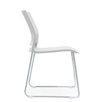 Посетителски стол RFG Gardena M, пластмасов, бяла седалка, бяла облегалка, 4 броя в комплект image