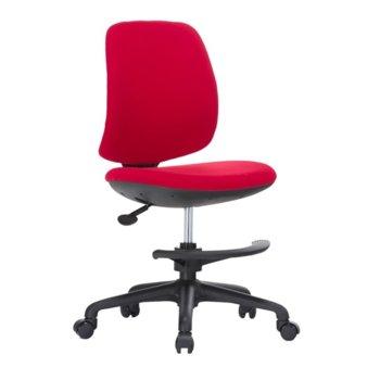 Детски стол RFG Candy Foot Black, дамаска, червена седалка, червена облегалка image