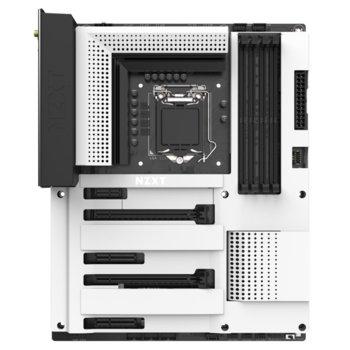 Дънна платка NZXT N7 Z390 MATTE White (N7-Z39XT-W1), Z390, LGA1151, DDR4, PCI-E (HDMI)(CFX), 4x SATA 6Gb/S, 2x M.2 Socket, 4x USB 3.1 Gen 2, Wi-Fi, Bluetooth 5.0, ATX image