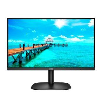"""Монитор AOC 24B2XDAM, 23.8"""" (60.45 cm) VA панел, 75 Hz, Full HD, 4 ms, 20000000 :1, HDMI, DVI, VGA image"""